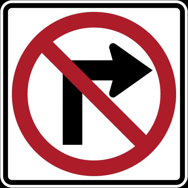 Where to find SIGN, NO RIGHT TURN in Vancouver / Surrey